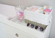 Project Nursery - baby nursery dresser topper