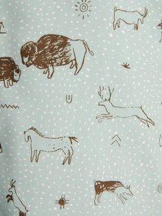 A detail of our custom-drawn and -printed Cave Print silk twill.