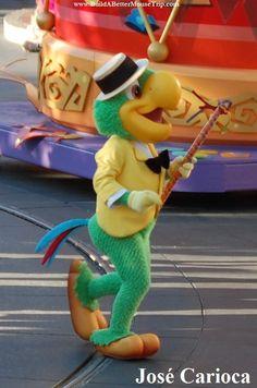 José Carioca in Mickey's Soundsational Parade in #Disneyland.   #JoseCarioca