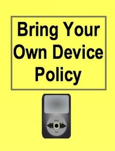 {FREE} Bring Your Own Device Policy for Elementary Students (Parents sign and return!)