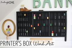 Easy Printers Box Word Art... a project that is simple and so clever!   www.findinghomeonline.com