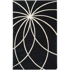 Michael Black 5 ft. x 8 ft. Area Rug-MCL-7072 at The Home Depot contemporari blackwhit, blackwhit wool, wool abstract, rugs, michael black, homes, abstract rug