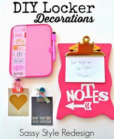 DIY Back to school ideas- Locker Decorations