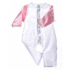 Organic Cotton Baby Romper Long Sleeved (Pink/White), (baby clothes), via myamzn.heroku.com... health-personal-care