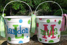 Easter Basket Bucket Personalized