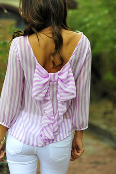 I Love You So Blouse: Lilac/White