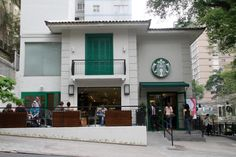 The Alamenda Santos store in São Paulo is one block off of Avenida Paulista. The architecture is reminiscent of the old mansions that were once the centerpieces of Brazil's coffee plantations. starbucks locations