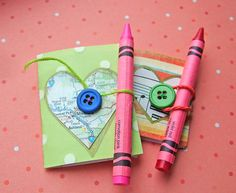 small world land: Tiny Valentine's Day Button Books 1