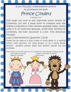 Freebie Comprehension Activity for Prince Cinders