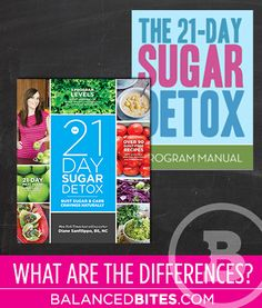 The differences between the 21 day sugar detox print book and PDF guides