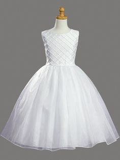 Shantung Organza w/ Pearl Accents First Communion Dress