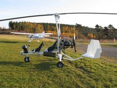 A naked MT03 gyroplane manufactured by AutoGyro GmbH in Germany.