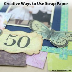 Use it Up: Creative Scrap Paper Ideas on Spotted Canary #spottedcanarycontest  Thanks for pinning my 50th Anniversary Page from the Spotted Canary!