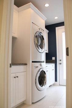Build in stacked laundry