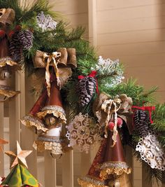 Garland using  DCWV Christmas Memories stack