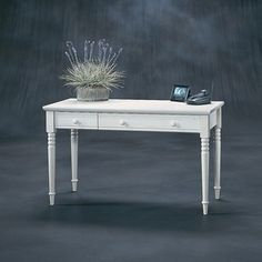 Sauder Harbor View Writing Desk in Distressed Antiqued White