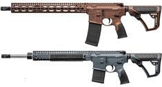 The Daniel Defense MK12 (top) is now being offered in the Daniel Defense Tornado finish. The DDM4v11 (bottom) is now available in Mil Spec+.