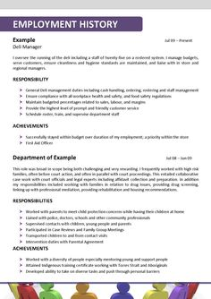 Examples of social work resumes