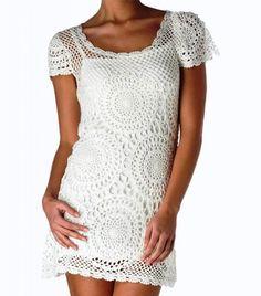 Vestido de #ganchillo en http://www.lanaspuntexsa.com/Catalogo/Katia/NEW%20CANCUN