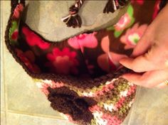 how to line a crocheted hat with fleece