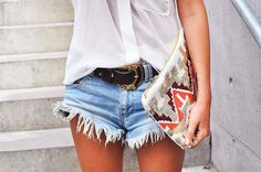 Cutoffs, that clutch, loose tank, perfect for summer
