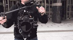 New Camera Stabilizer--no counter weight, framing controlled by remote by 2nd operator