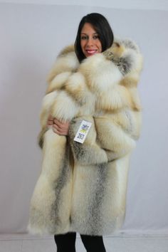 golden island fox fur parka