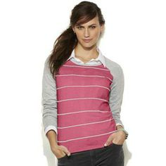 SONOMA life + style Striped Raglan Sweater