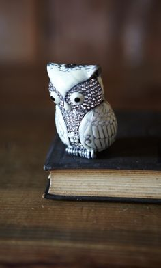 {Owl Box} enamel + crystal trinket box