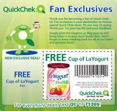 Saving 4 A Sunny Day: Free Cup Of Yogurt At Quick Chek