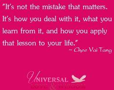 Mistakes quote via www.Facebook.com/UniversalLoveWisdom