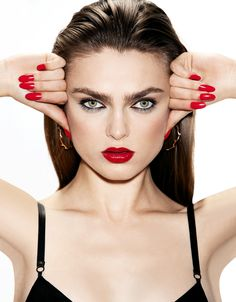 RED. mayo 2013, fashion, red, sophi vlame, makeup, vanidad, patricia de, 2013 nail, de gregorio