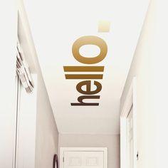 Hello Hallway Ceiling Sticker
