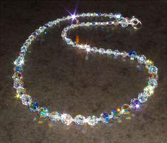 Glistening Round Clear AB Crystal Choker 78