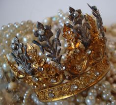 Antique Fleurs & Flowers French Crown From Paris Couture Antiques