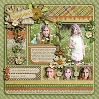 Darling Summer Page...with flowers...by KayM