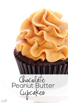 These tasty cupcakes are easy to make, and stuffed with a surprise mini Reese's peanut butter cup inside!! | gimmesomeoven.com