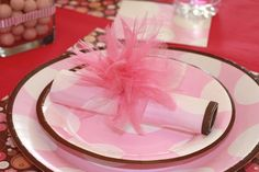 tulle napkin ring - with instructions