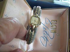 Vintage Gold Elgin Watch by vintagecitypast on Etsy, $20.00