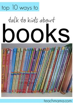top 10 ways to talk to kids about books