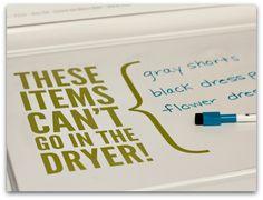 dry erase markers, washing machine, eras marker