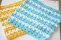 Summer Breeze V-Stitch Dishcloth Pattern - The Yarn Box The Yarn Box