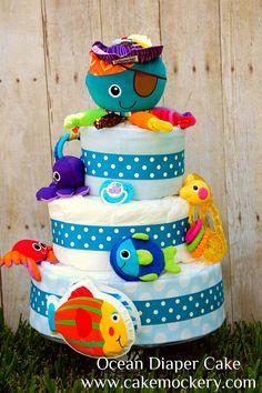 Ocean Diaper Cake