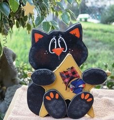 Halloween Black Cat avec étoile par Cherables sur Etsy, $16.50