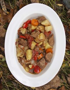 Slow Cooker Hungarian Goulash: GHOUL-lash! A perfect Halloween meal. http://www.simplelivingeating.com/2014/10/slow-cooker-hungarian-goulash-ghoul.html   #goulash #stewrecipes