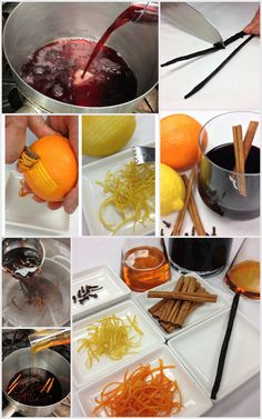 """6 Easy Steps to @Four Seasons Resort Palm Beach's Mulled Wine aka """"Holiday in a glass"""" 1) Pour 1 bottle (750ml) of dry red wine into large pot. 2) Zest 1 orange & 1 lemon. 3) Halve 1 whole vanilla bean lengthwise. Run blade over each side to scrape out seeds. 4) Add citrus, vanilla, 1/3c. honey, 2oz bourbon & 10 cloves to wine. Allow to heat through, approx 30 min. Don't boil. 5) Ladle wine mixture thru strainer to remove loose ingredients. 6) Serve warm w/ cinnamon stick garnish. #HowToHoliday"""