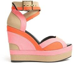 Pierre Hardy Tri-Color Wedge Sandal