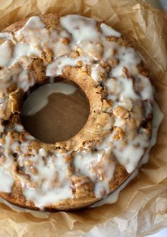 Fresh Apple Cake drizzled with Honey Glaze