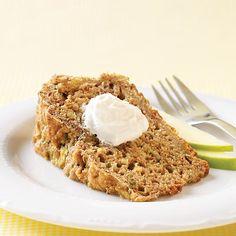 Clean Eating- Zucchini Apple bread made with greek yogurt, honey, cinnamon and more!
