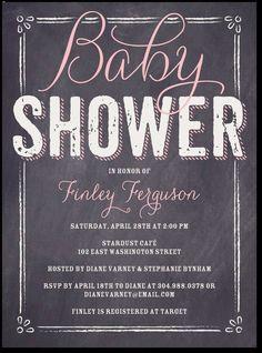 Baby Board: Bloom, baby girl shower invites
